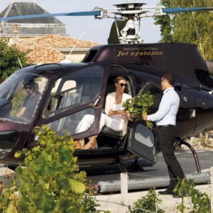 Cordeillan-Bages en hélicoptère