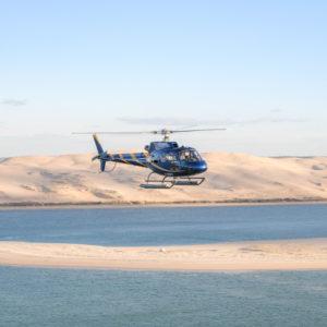 Direction cap-ferret en helicoptere